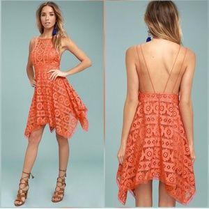 Free People Coral Just like Honey Mini Dress